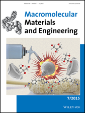 Cover of Macromolecular Materials and Engineering 7/2015 dedicated to the GreenCaps