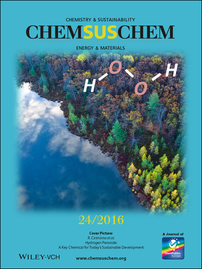 Cover of ChemSusChem, issue 24/2016, dedicated to Ciriminna et al work on hydrogen peroxide
